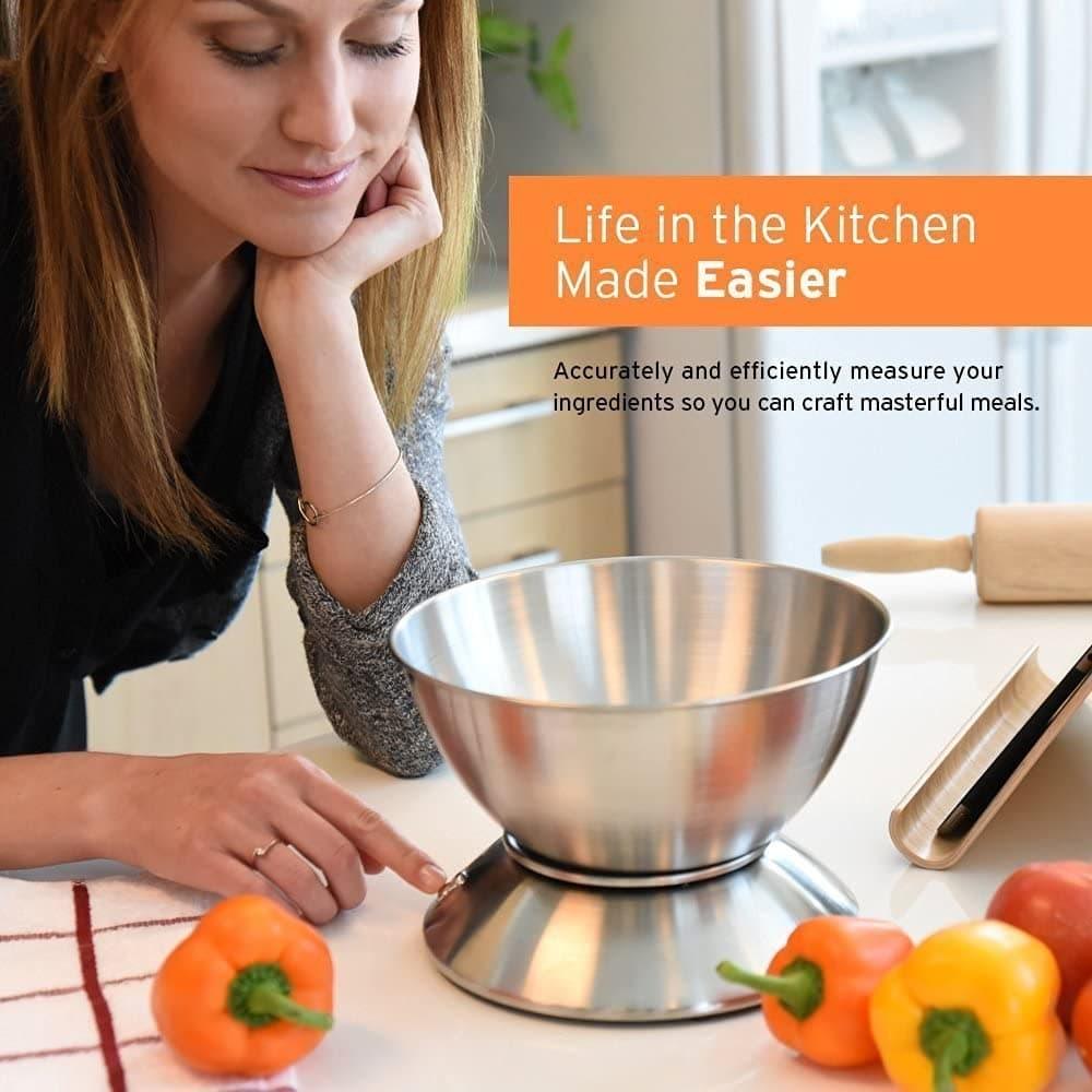 Bascula digital para la cocina con bol