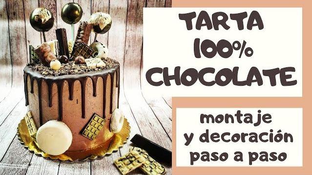 Tutorial para decorar una tarta de chocolate bonita y deliciosa.