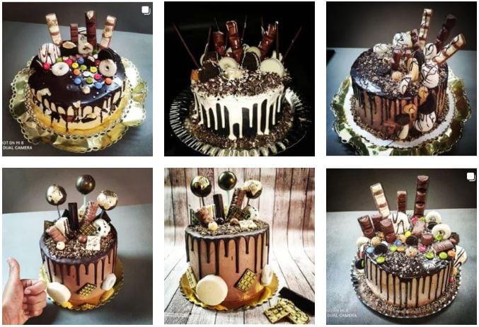 tartas de cumpleaños preparadas por bilena en la cocina