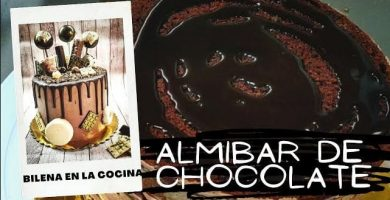 almibar de chocolate