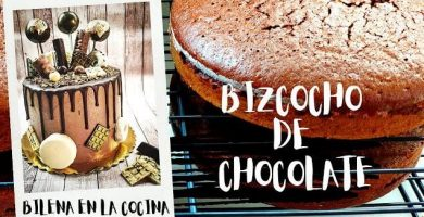Como hacer bizcocho de chocolate para tartas