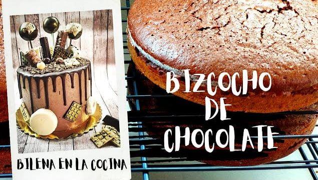 Receta para elaborar bizcochos de chocolate esponjosos, húmedos y sabrosos para hacer deliciosas tartas bonitas.