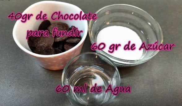 ¿Como preparar almibar de chocolate casero? ingredientes.