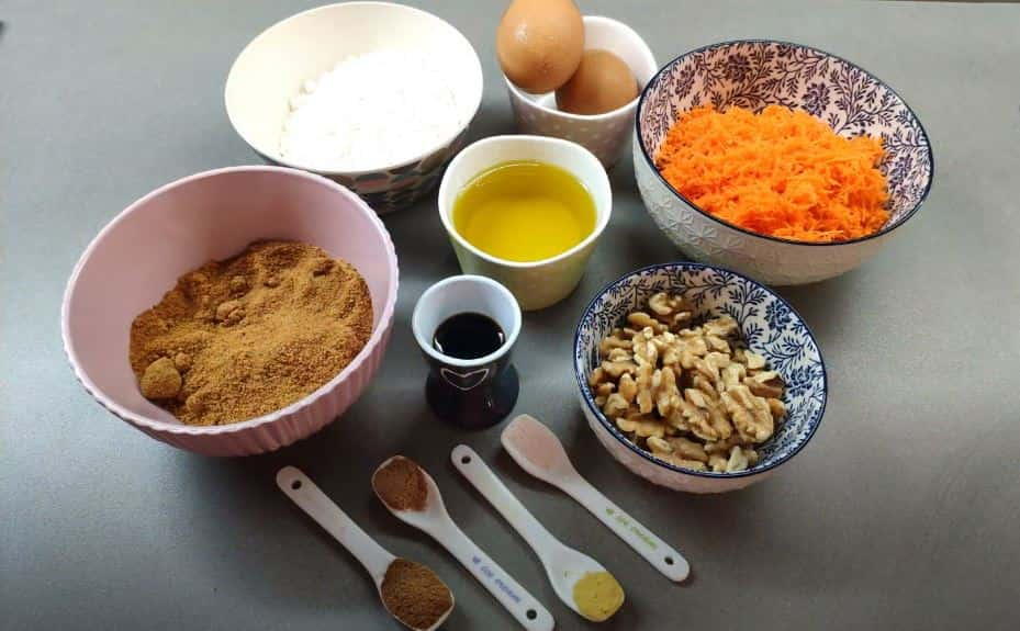 Como hacer magdalenas de zanahoria con nueces paso a paso
